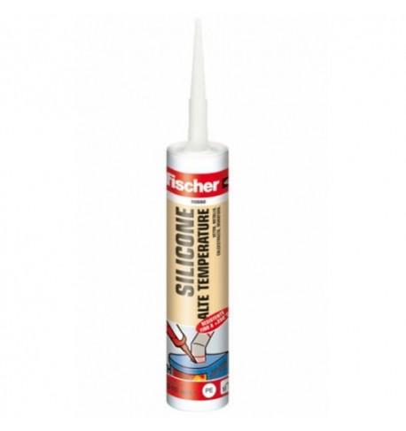 SILICONE resistente alte Temperature rosso +315°C Fischer 310ml
