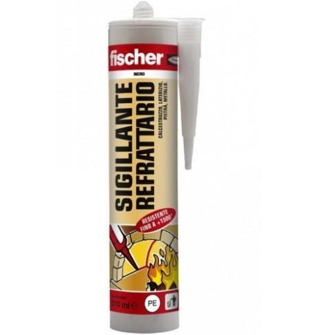 Sigillante SILICONE REFRATTARIO NERO 1500°C Fischer 310ml