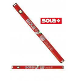 800 mm SOLA -alu - Livello i-spirit BIG x sezione tubolare alluminio rosso