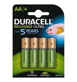 Batterie ricaricabili Duracell Recharge Ultra AA Stilo 4pz